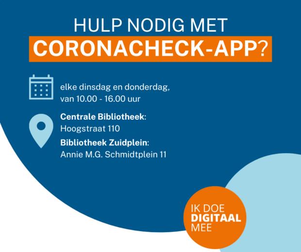 Hulp met de CoronaCheck-app